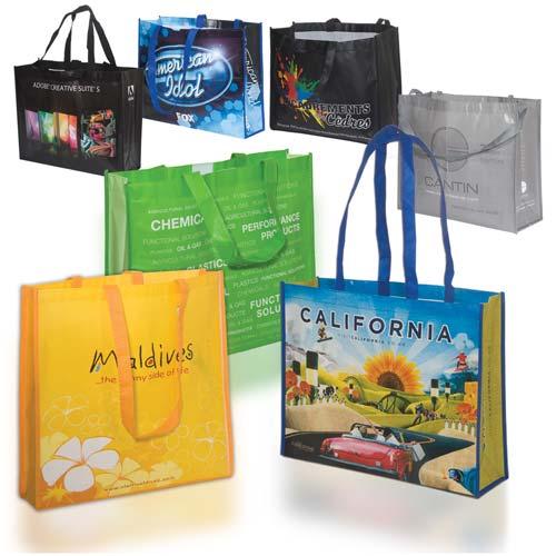 Custom laminated poly pro tote 80gsm personalized tote for Custom laminations