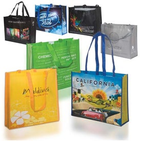 Advertising Custom Laminated Poly-Pro Tote - 80GSM