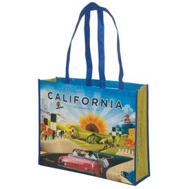 Custom Laminated Poly-Pro Tote - 80GSM