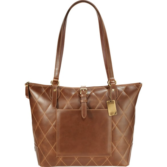 Cutter and Buck Bainbridge Quilted Leather Tote Bag 2ea33388ed2c9