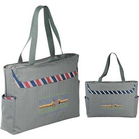 Dapper Zippered Business Tablet Tote Bag