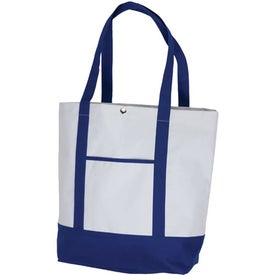 Deluxe Pocket Fashion Tote Imprinted with Your Logo