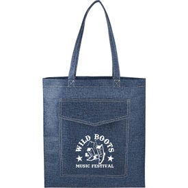Denim Non-Woven Convention Tote