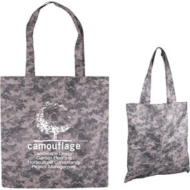Digital Camo Nonwoven Value Tote Bag