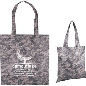 Digital Camo Nonwoven Value Tote Bag