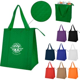 Dimples Non-Woven Cooler Tote Bags