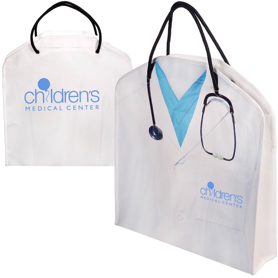 White Doctor Tote Bag Branded