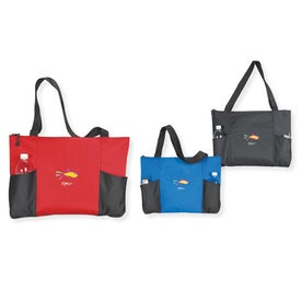 Double Pocket Zippered Tote