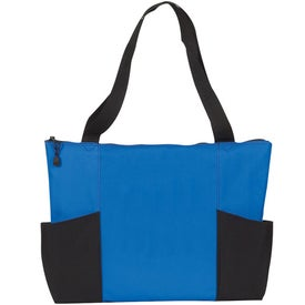 Double Pocket Zippered Tote for your School