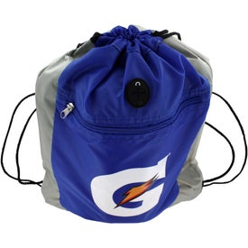 Double Square Drawstring Tote with Your Logo