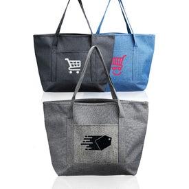 Dungaree Pocket Heathered Tote Bag