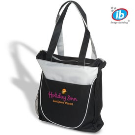 Duo Tone Zippered Tote for Customization