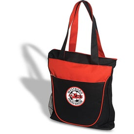 Duo Tone Zippered Tote Giveaways