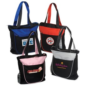 Duo Tone Zippered Tote