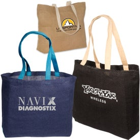 Eco-Green Jute Tote Giveaways