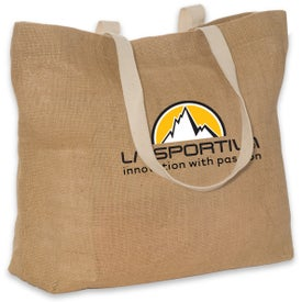 Eco-Green Jute Tote with Your Slogan