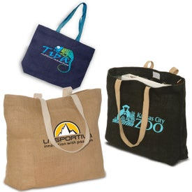 Eco-Green Jute Tote Bag
