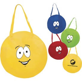 Emoticon Round Nonwoven Tote Bag