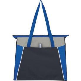 Monogrammed Empire Shopping Tote