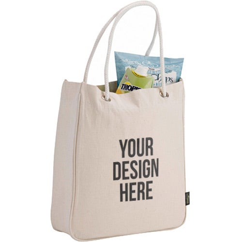 Natural Organic Cotton Canvas Carry-All Tote Bag