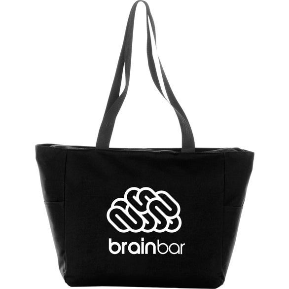 Black Essential Zip Convention Tote Bag