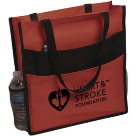 Advertising Expo Double Pocket Tote Bag