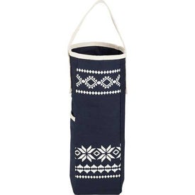Fair Isle Wine Tote Bag With Opener