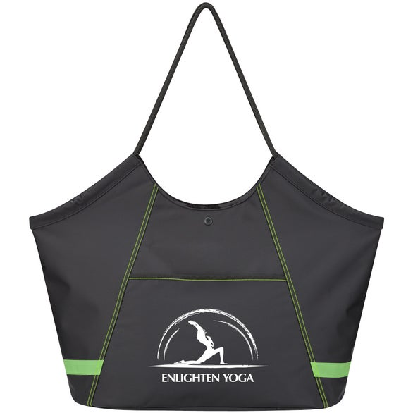 Black / Green Fitness Club Tote Bag