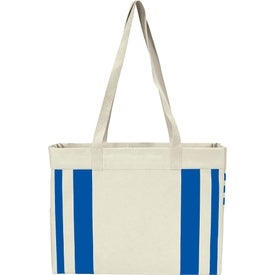 Fletcher 16 Oz. Cotton Canvas Striped Tote Bag