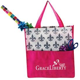 Branded Fleur De Lis Tote Bag