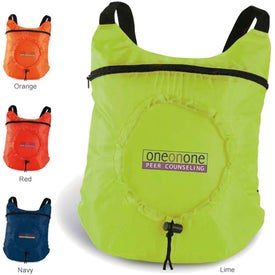 Fold Up Backpack for Marketing