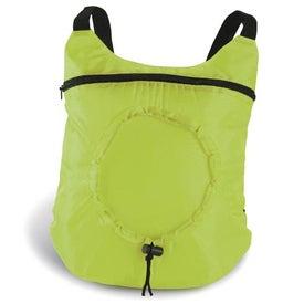 Monogrammed Fold Up Backpack