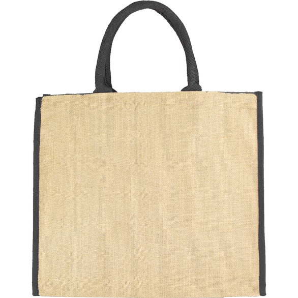 Natural / Black Fresno Eco Friendly Jute Tote Bag