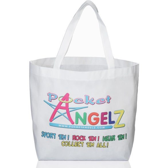 White Full Color Reusable Tote Bag