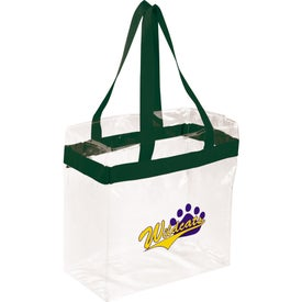 Personalized Game Day Clear Stadium Tote Bag