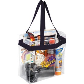 Customized Game Day Clear Stadium Tote Bag
