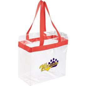 Custom Game Day Clear Stadium Tote Bag