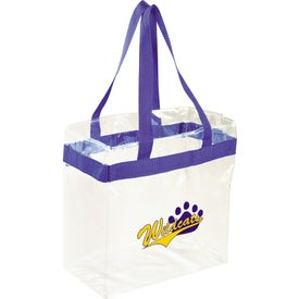 Printed Game Day Clear Stadium Tote Bag