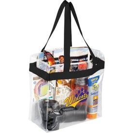 Monogrammed Game Day Clear Stadium Tote Bag