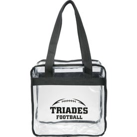 Game Day Clear Zippered Safety Tote Bag