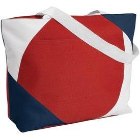 Geo Color Block Tote Bag for Advertising