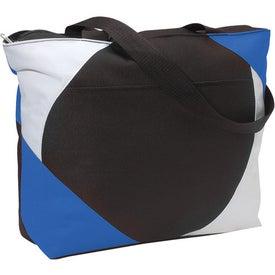 Printed Geo Color Block Tote Bag