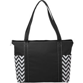 Geometric Zippered Business Tote Bags
