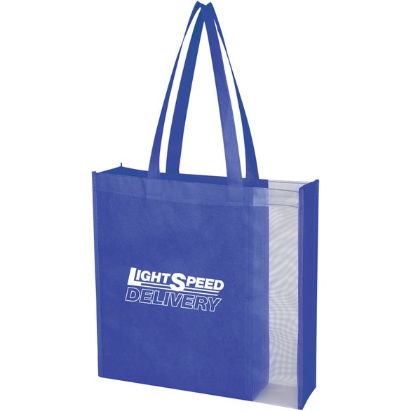 Blue / Clear Glancer Non-Woven Tote Bag