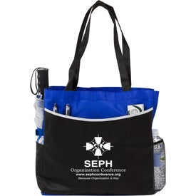 Globe Trotter Deluxe Convention Tote Bag Branded with Your Logo
