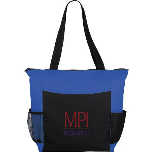 Royal Blue / Black Grandview Zippered Convention Tote Bag