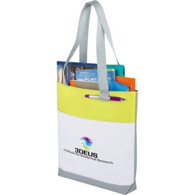 Great White Convention Tote Bag Branded with Your Logo