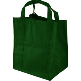 """Grocery Tote 13"""" x 15"""" x 10"""" Deep with Your Slogan"""