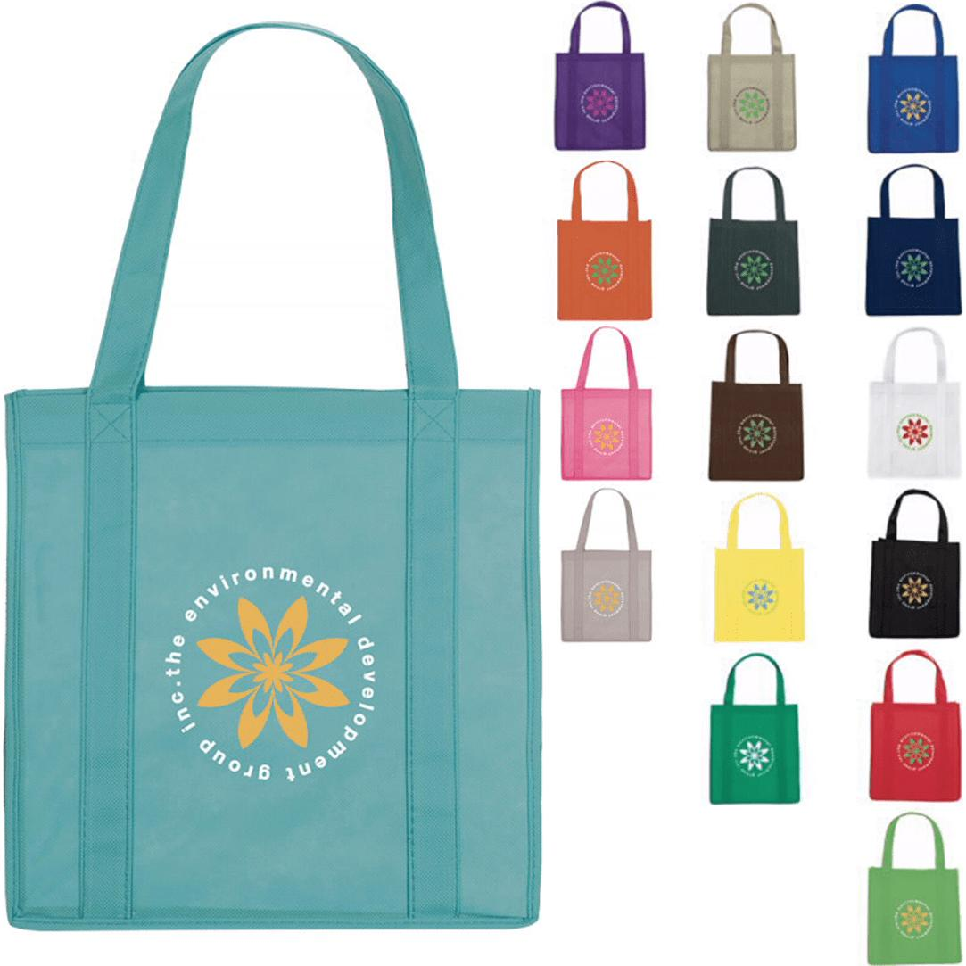 8c43794ad70 Promotional Grocery Tote Bags with Custom Logo for  1.29 Ea.