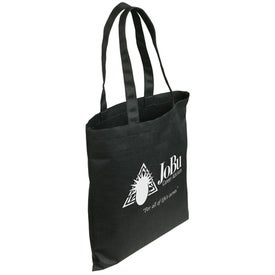 Gulf Breeze Recycled P.E.T. Tote Bag In Black Imprinted with Your Logo